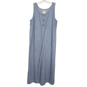Vintage Susan Bristol Denim Dress Sleeveless Large